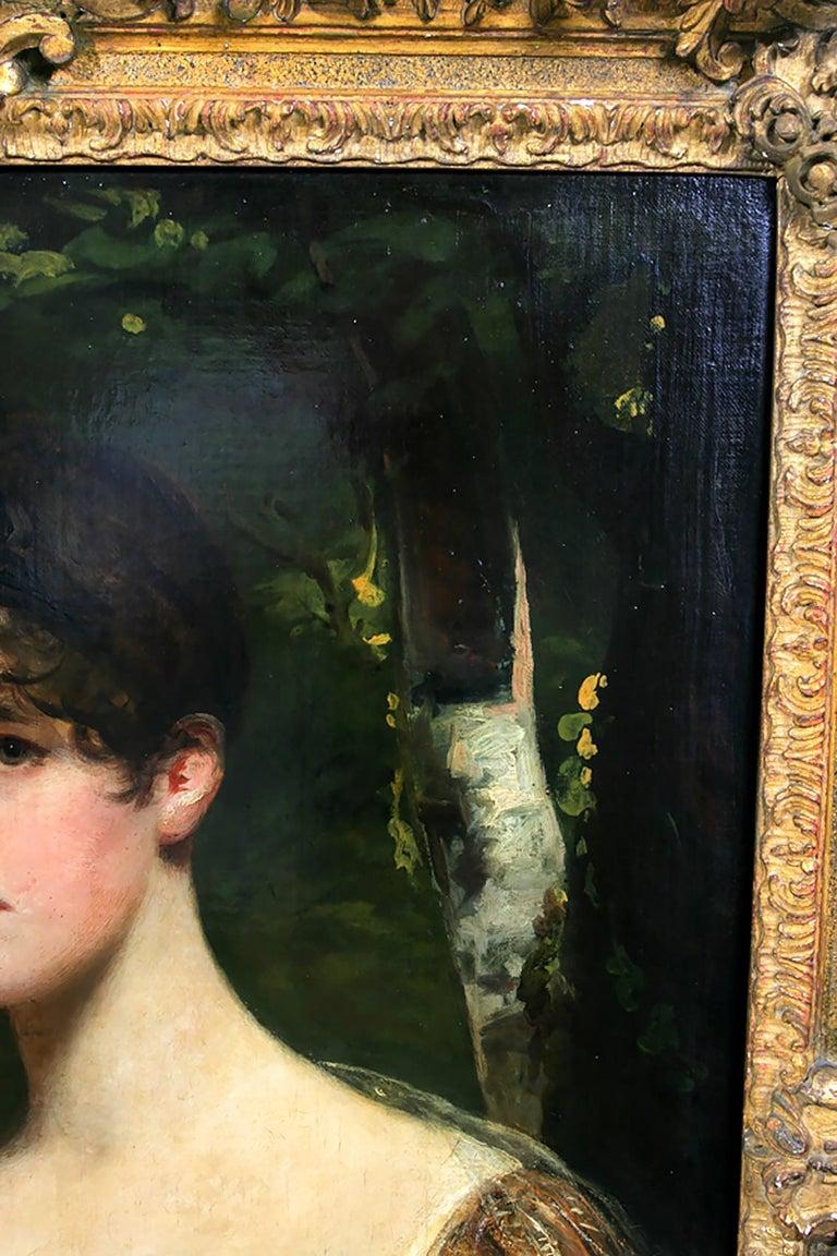 Portrait of Lady Bagot - Niece to the Duke of Wellington For Sale 7