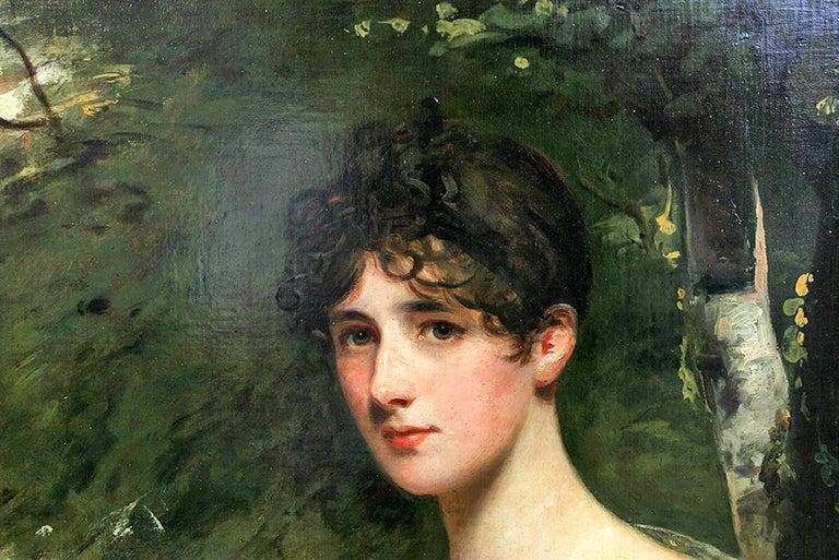 Portrait of Lady Bagot - Niece to the Duke of Wellington For Sale 3
