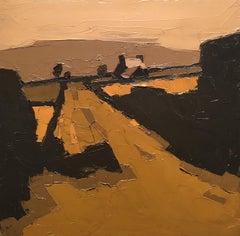 20th Century Welsh landscape painting 'Farm at Deinolen' by Sir Kyffin Williams