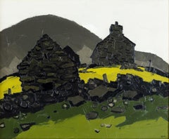 20th Century Welsh landscape painting 'Hendre Waelod' by Sir Kyffin Williams RA