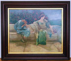 "Figural Oil Painting after Sir Lawrence Alma-Tadema ""Ask Me No More"""