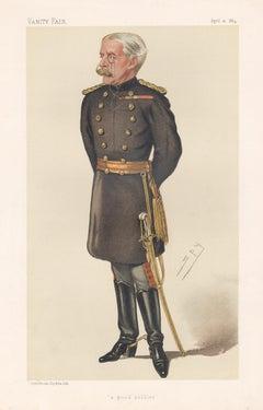 'a good soldier', Vanity Fair military army portrait chromolithograph, 1884