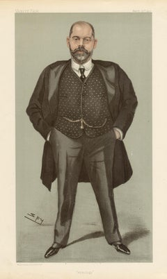 Dr Robert Spicer, Vanity Fair medical portrait chromolithograph, 1902