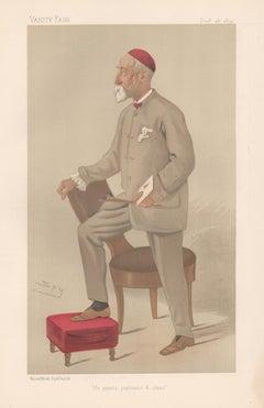George Frederic Watts, painter, Vanity Fair portrait chromolithograph, 1892