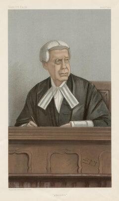 Hon. Mr Justice Swinfen Eady, Vanity Fair legal chromolithograph, 1902