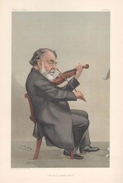 Joseph Joachim, Vanity Fair music violinist portrait chromolithograph, 1905