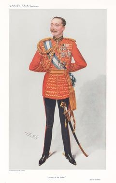 'Master of the Horse', Vanity Fair military army portrait chromolithograph, 1908