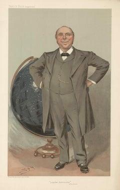 Robert Ball, astronomer, Vanity Fair portrait chromolithograph, 1905