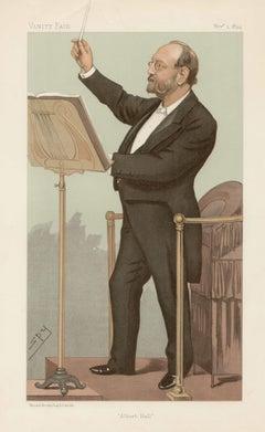 Sir Joseph Barnby, Vanity Fair musician portrait chromolithograph, 1894