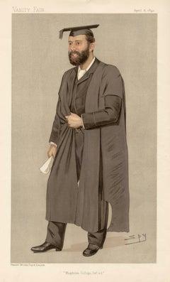 Sir Thomas Herbert Warren, Vanity Fair portrait chromolithograph, 1890