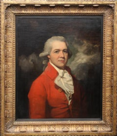 Portrait of Philip Harding Esquire - Irish art 18thC Old Master oil painting