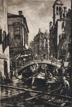 Canal and Bridge of SS Apostoli, Venice.