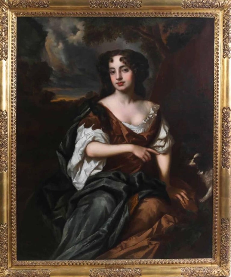 Portrait of Viscountess Townshend - circle of Sir Peter Lely For Sale 1