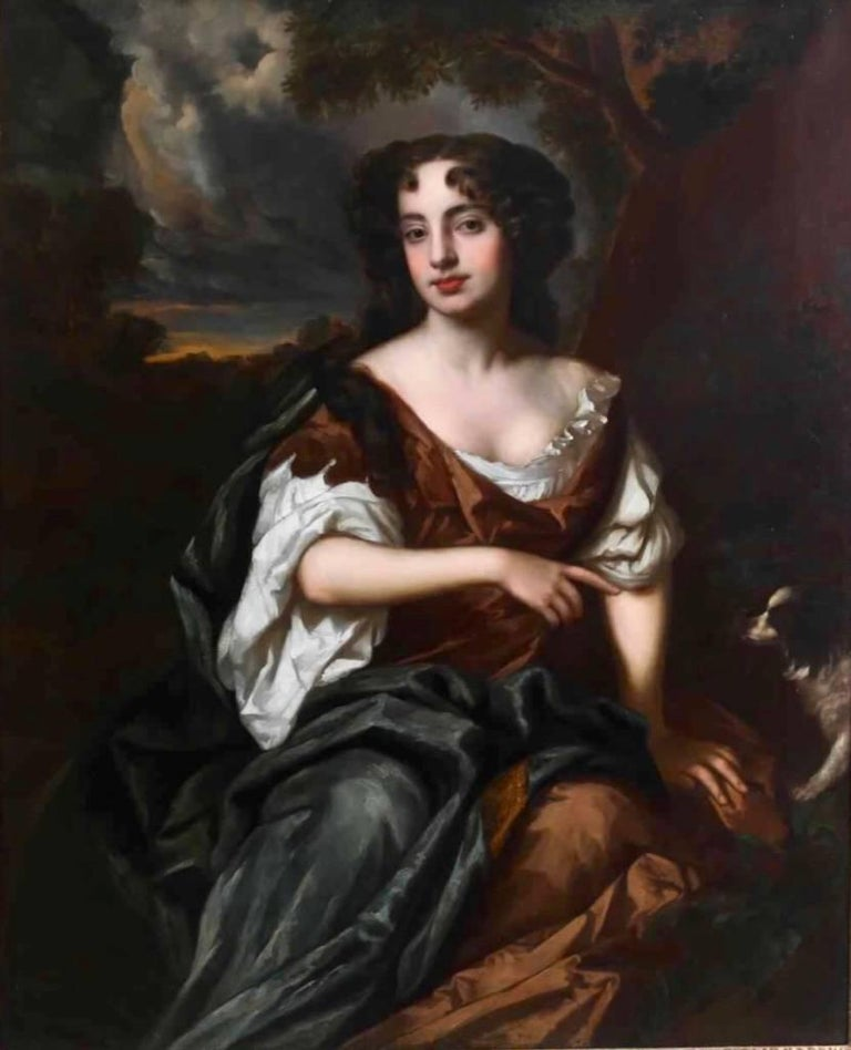 Portrait of Viscountess Townshend - circle of Sir Peter Lely - Painting by Sir Peter Lely