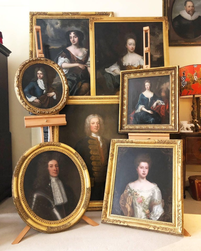 Portrait of Viscountess Townshend - circle of Sir Peter Lely For Sale 3