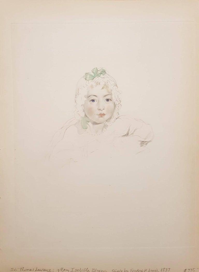 Mary Isabella Bloxum - Print by Thomas Lawrence
