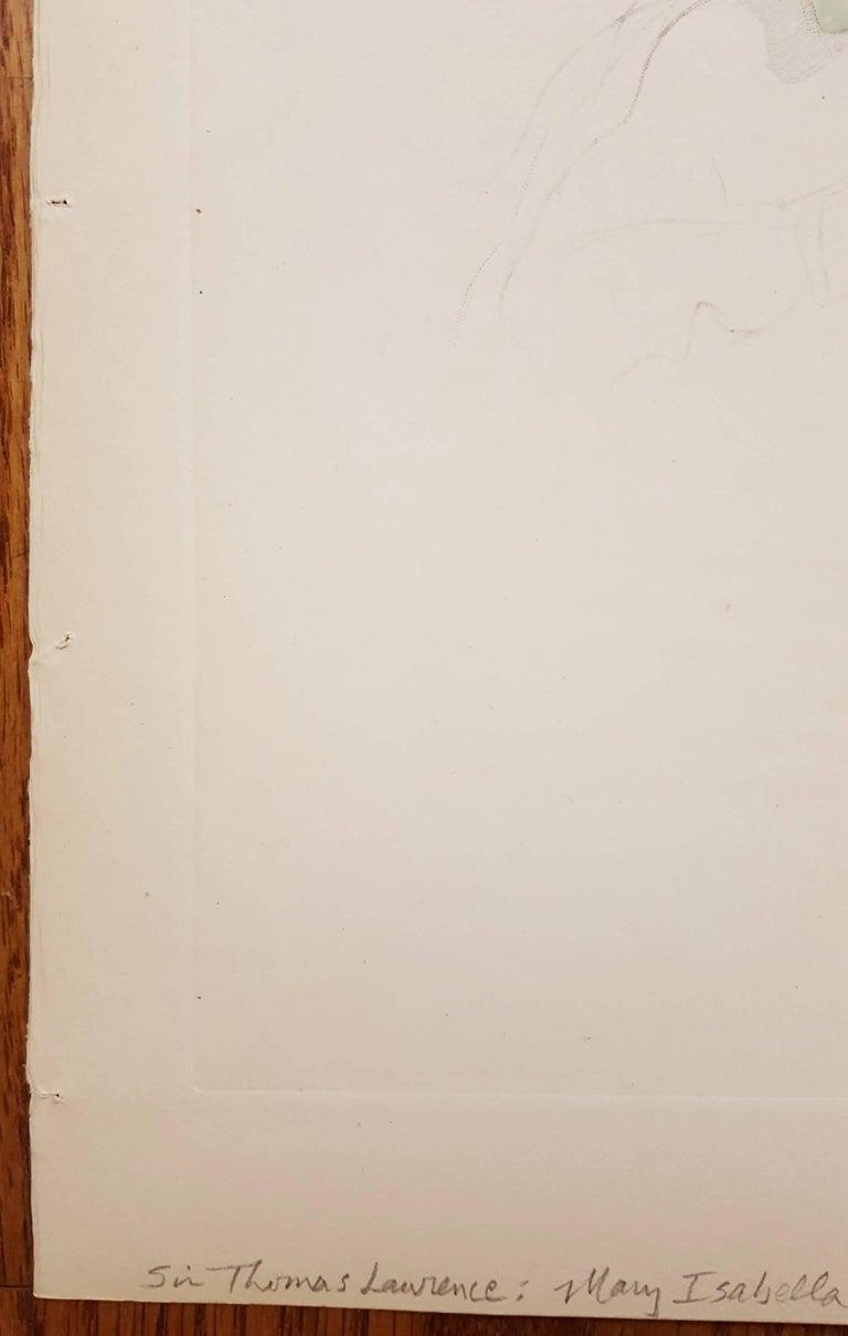 Mary Isabella Bloxum - Victorian Print by Thomas Lawrence