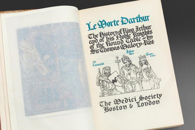 Leather Sir Thomas Malory, Le Morte D'Arthur For Sale