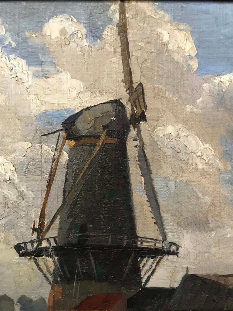 Australian Sir William Ashton, Norfolk Windmill, Oil on Canvas For Sale
