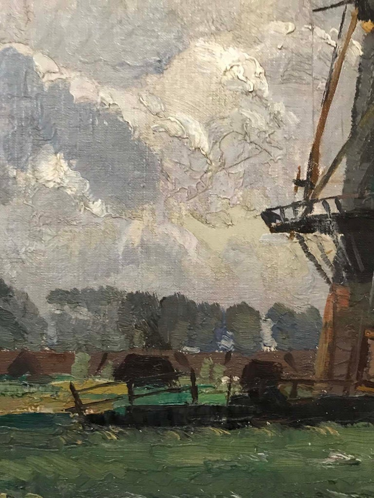 Sir William Ashton, Norfolk Windmill, Oil on Canvas In Good Condition For Sale In Melbourne, Victoria
