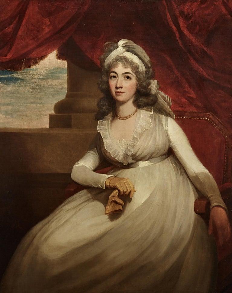 Sir William Beechey Interior Painting - Portrait of Anne, Duchess of Cumberland and Strathearn