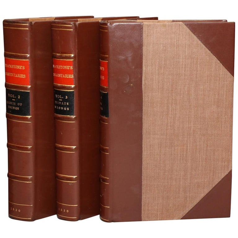 Sir William Blackstone, Commentaries of the Laws of England For Sale