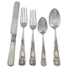 Siren by Int'l Rogers Bros Silverplate Flatware Set Service 44 Pcs Woman Figural