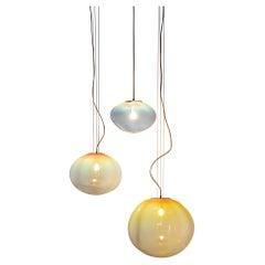 """Sirio Ceiling Lamp, Hand-Blown Murano Glass, 2021, Size """"M"""""""