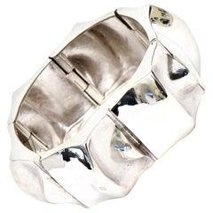 Sirokoro Finland Sterling Silver Sculptural Cuff Bracelet Signed Vintage