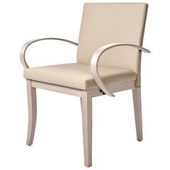 Sisli Chair, Slightly Flared Leg and Slim Back Pair with an Exaggerated Curved
