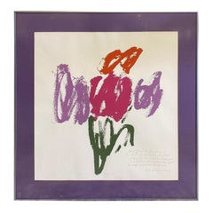 Sister Mary Corita Kent Limited Edition Signed Large Abstract Serigraph Print