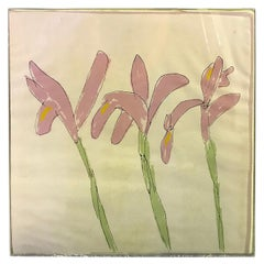 Sister Mary Corita Kent Limited Edition Signed Rare Silkscreen Flower Print