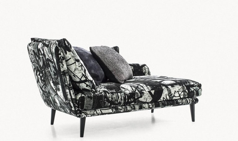 Sister Ray Left Right Goose Down Cushions Chaise Longue By Moroso