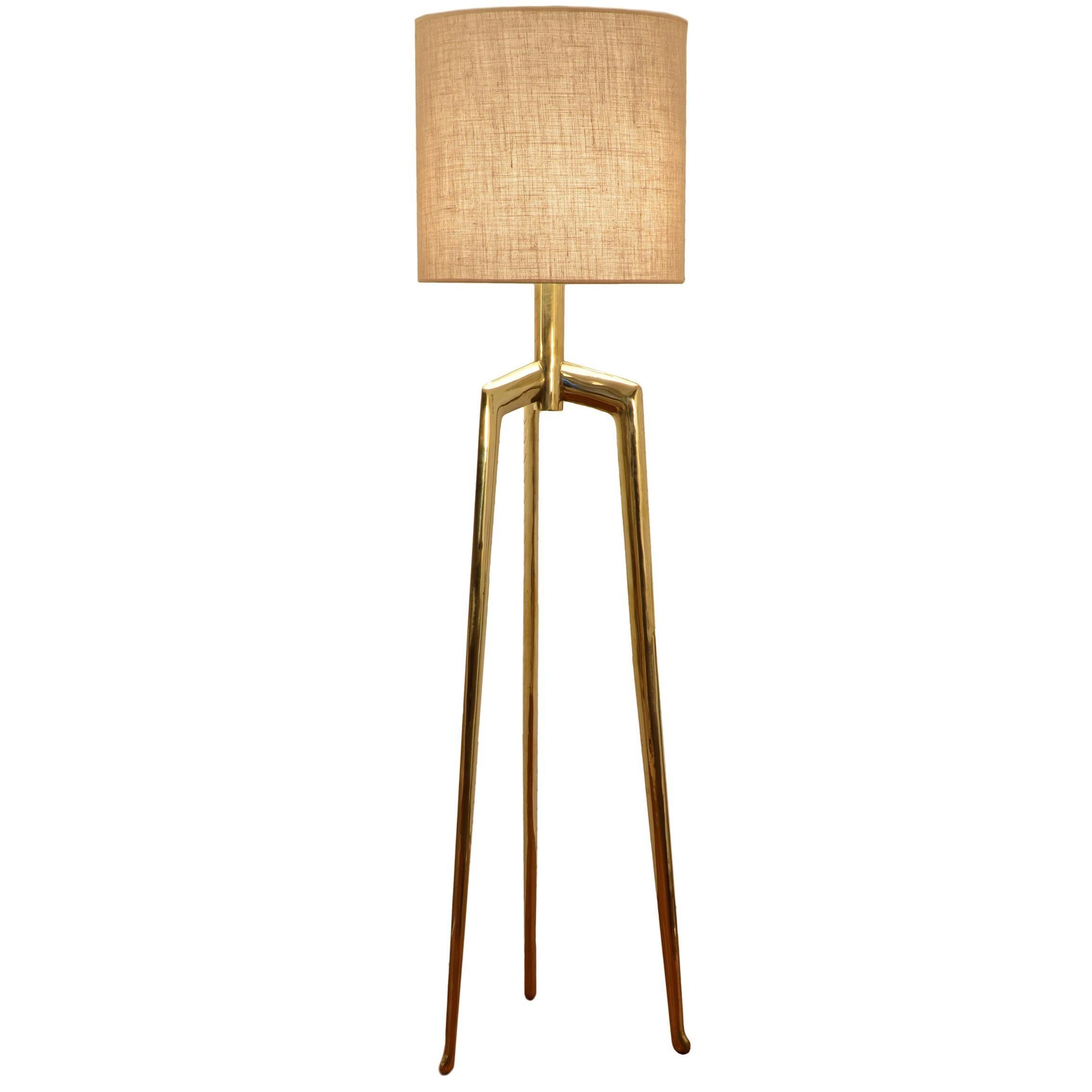 Sita co Contemporary Minimalist Brazilian Floor Lamp by Cristiana Bertolucci