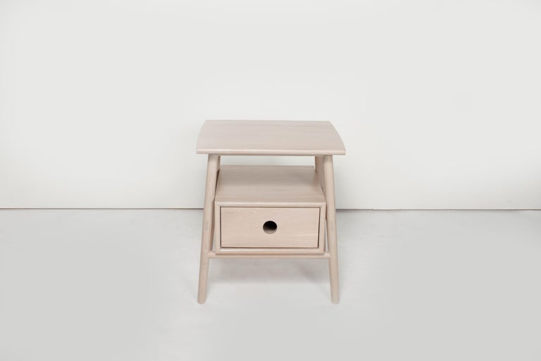 Sun at six is a Brooklyn design studio. We work with traditional Chinese joinery masters to handcraft our pieces using traditional joinery. The Sitka side table features traditional joinery throughout.