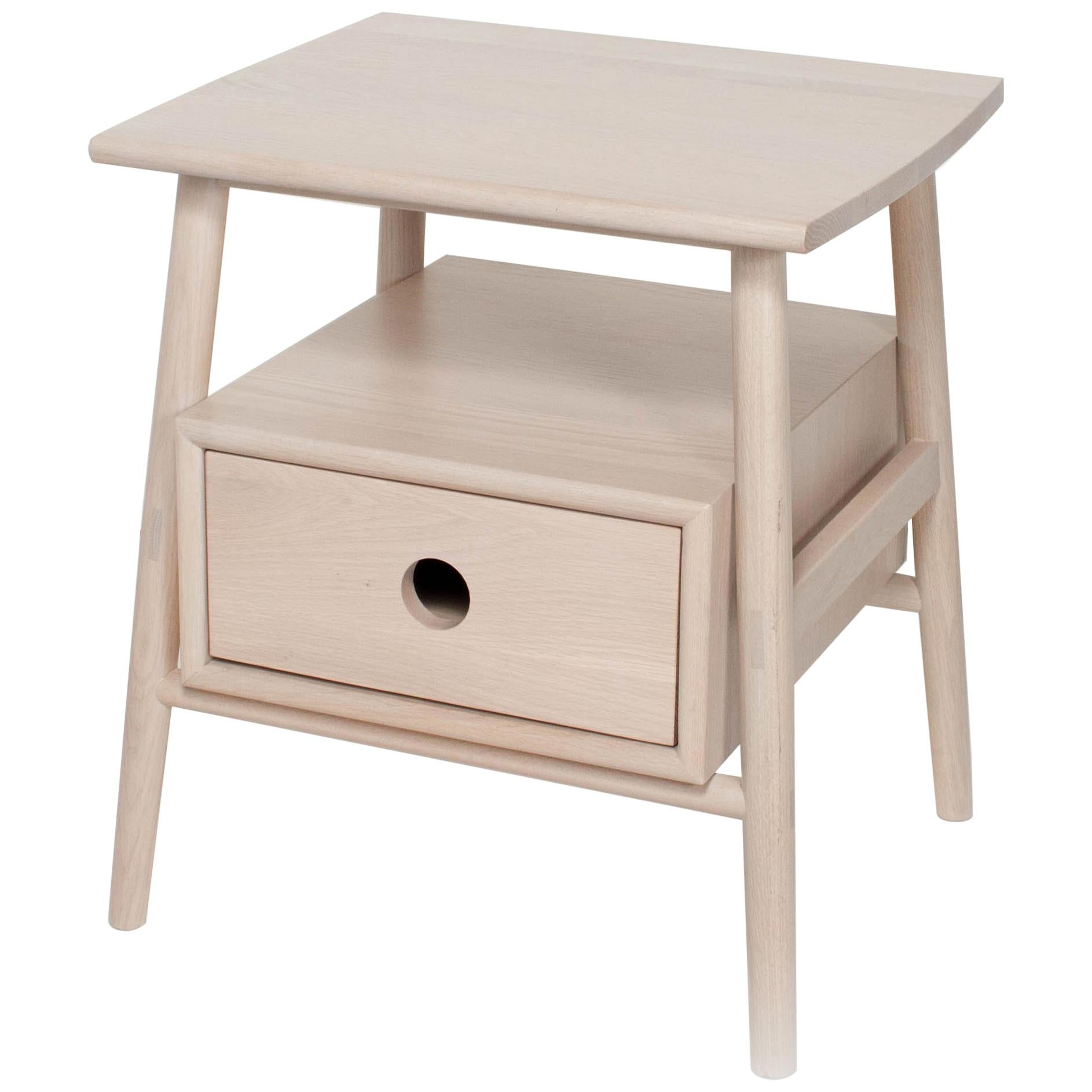 Sitka Side Table by Sun at Six, Nude, Minimalist Accent Table in Wood