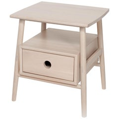 Sitka Side Table, Nude, Minimalist Accent Table in Wood
