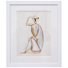 Sitting Monkey Gouache by Henri Samouilov