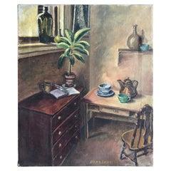 """Sitting Room Still Life Signed """"Bert. Lobberegt 1952"""""""