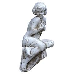 Sitting Woman Sculpture