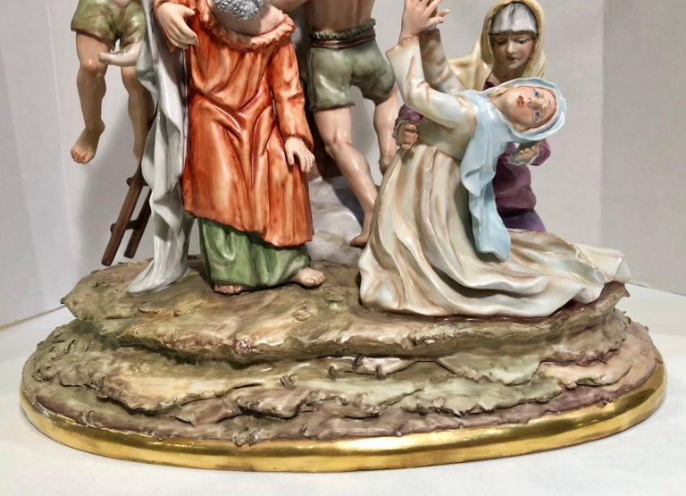 Sitzendorf Germany 13th Station of the Cross Museum Quality Porcelain Scene For Sale 3