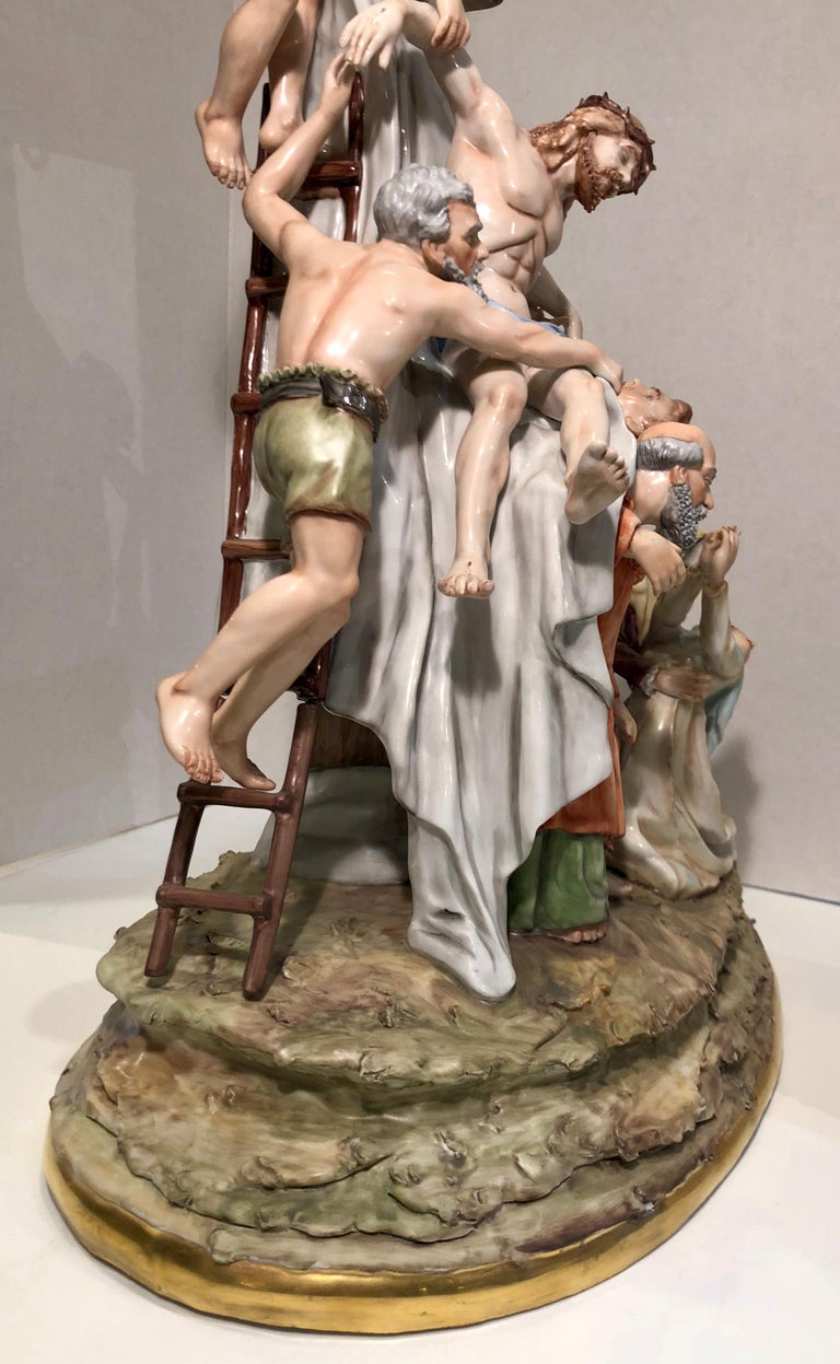 Sitzendorf Germany 13th Station of the Cross Museum Quality Porcelain Scene For Sale 4