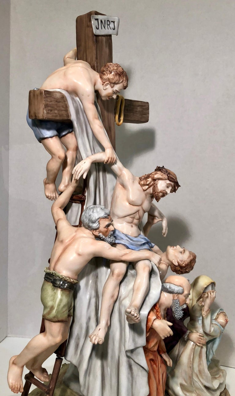 Sitzendorf Germany 13th Station of the Cross Museum Quality Porcelain Scene For Sale 5