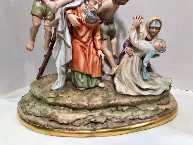 Sitzendorf Germany 13th Station of the Cross Museum Quality Porcelain Scene For Sale 6