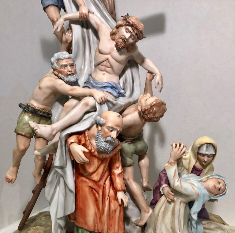 Sitzendorf Germany 13th Station of the Cross Museum Quality Porcelain Scene For Sale 7