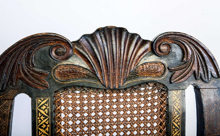 British Six 18th Century Elegant Dining Room Chairs, England, 1750 For Sale