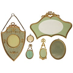 Six 19th Century French Bronze Ormolu Gilt Belle Époque Hanging Picture Frames