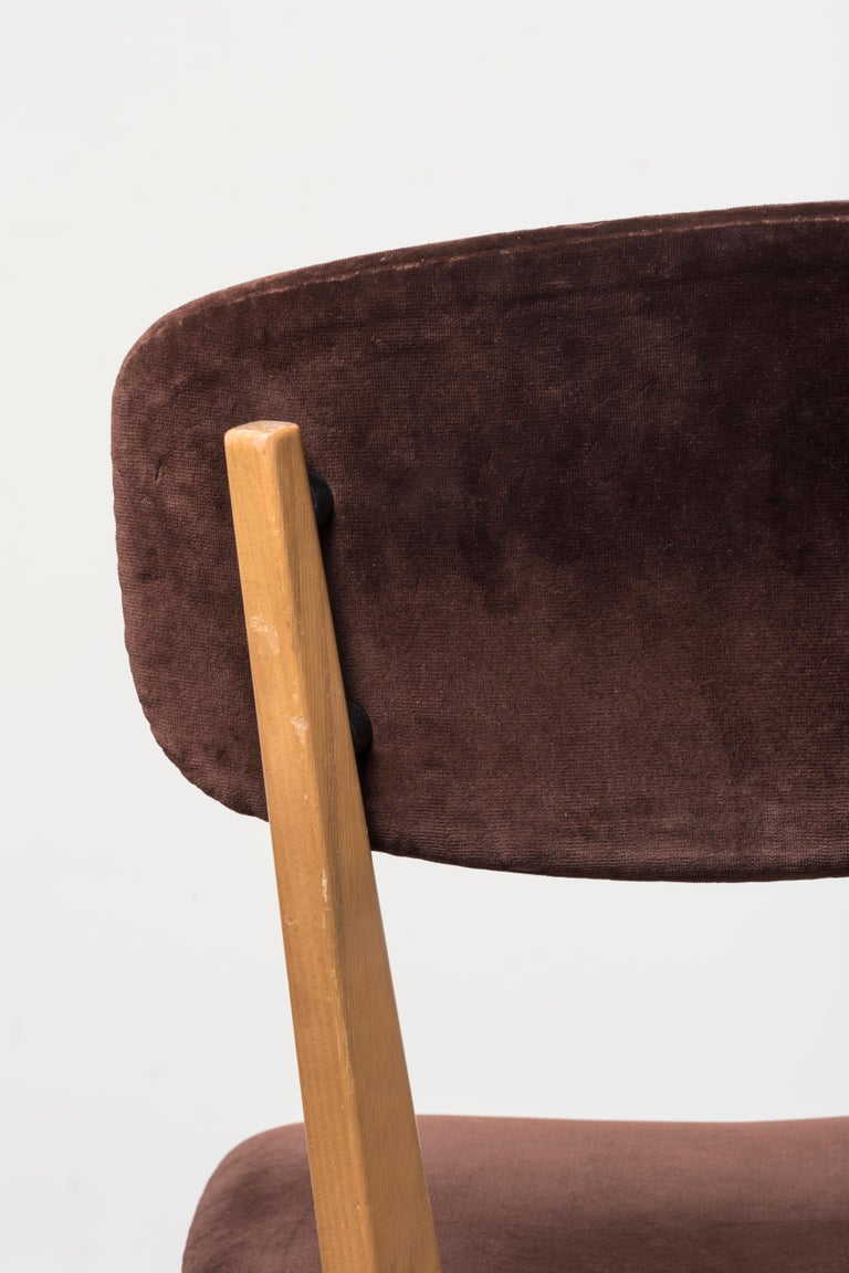 Six 691 Chairs by Ico Parisi For Sale 1