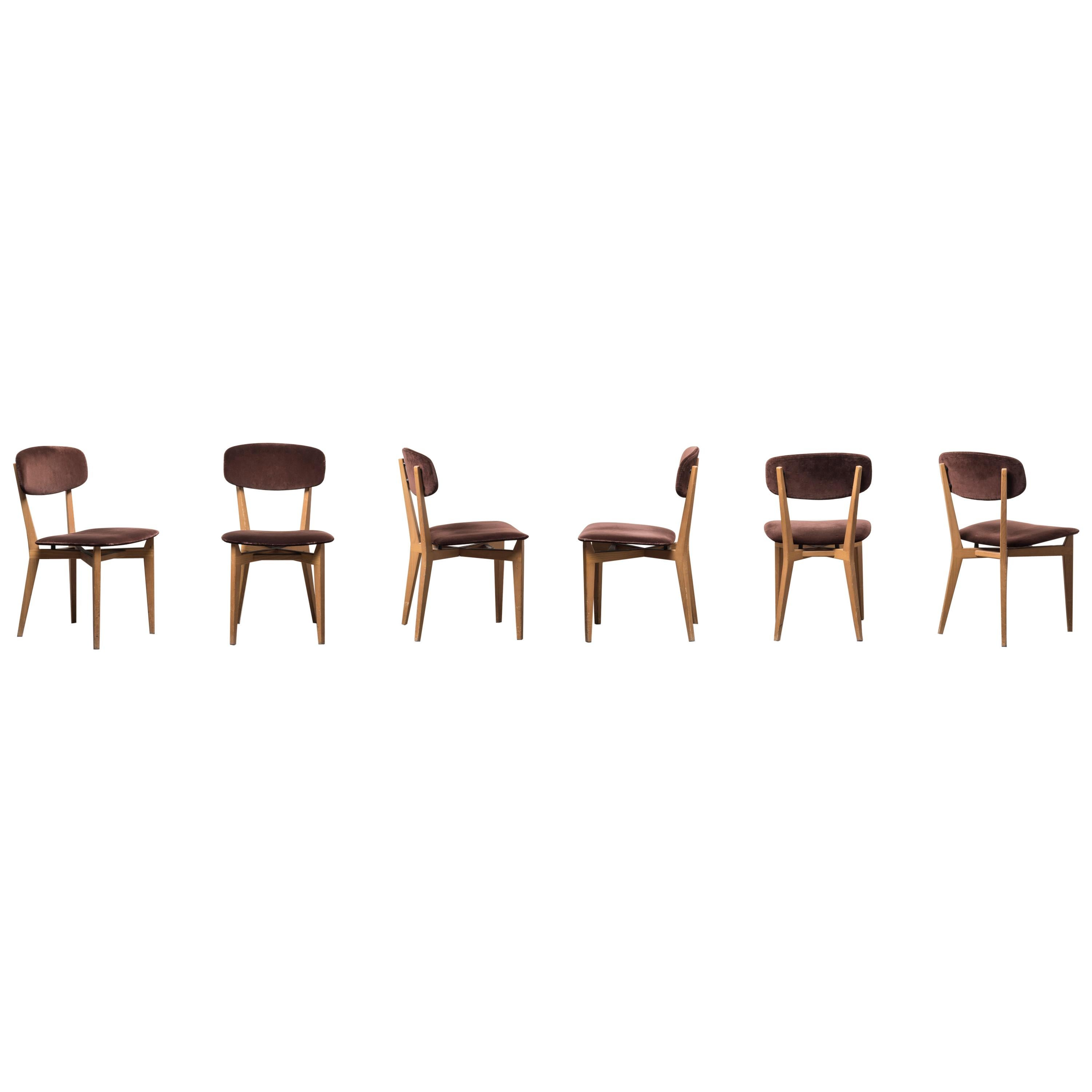 Six 691 Chairs by Ico Parisi