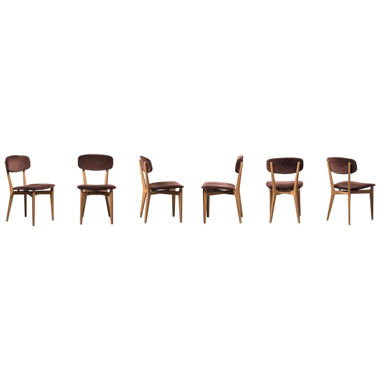 Six 691 Chairs by Ico Parisi For Sale